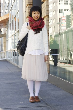 cream knit JCPenney sweater - light pink Skirt skirt
