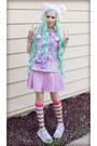 In-lavander-amoyamo-shoes-in-lavander-oasap-skirt-oasap-t-shirt