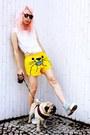 Yellow-lo-chlo-shorts-white-handmade-shirt-black-seppla-glasses