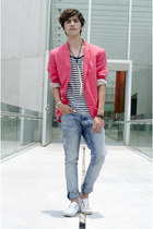 H&amp;M blazer - H&amp;M jeans - River Island t-shirt - Zara sneakers