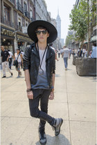H&M jeans - H&M The NEW Icons hat - H&M jacket - rayban sunglasses