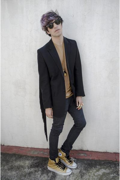 pull&bear necklace - H&M jeans - H&M blazer - maison martin margiela shirt