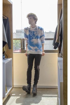 OASAP sweatshirt - pull&bear boots - pull&bear jeans