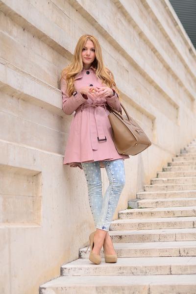 asos coat - Celine bag