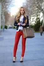 Celine purse - DrDenim jeans - Zara jacket - Alexander McQueen t-shirt