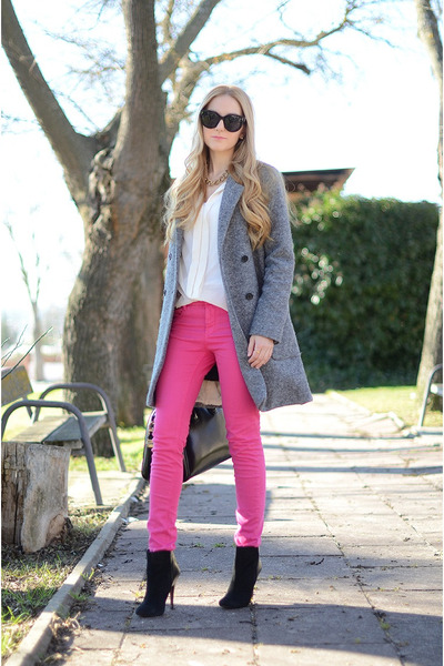 Zara coat - asos jeans