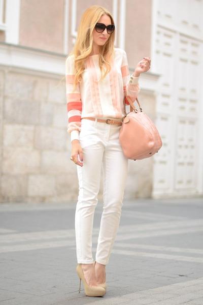 BLANCO blouse - Carolina Herrera bag - Gucci sunglasses - YSL ring