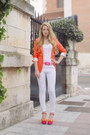 White-zara-jeans-carrot-orange-queens-wardrobe-blazer-zara-sandals-bubble-