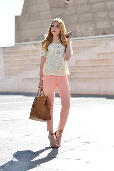 Mango top - Zara jeans
