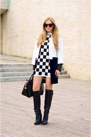 Zara coat - asos dress