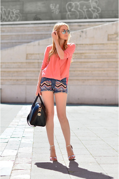 Givenchy bag - Zara shorts