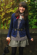 H&M shirt - Okaidi shorts - H&M jacket - monoprix tights - belt - Pierre Cardin