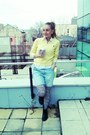 Black-biker-boots-light-yellow-sweater-white-shirt-zebra-tights