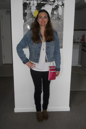 brogues Forever 21 shoes - denim jacket American Eagle jacket
