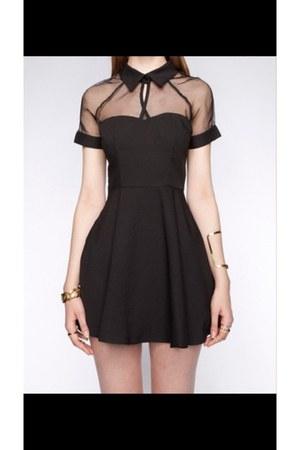 black random brand dress