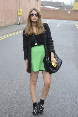 Zara skirt - Topshop bag - Prada sunglasses - River Island flats
