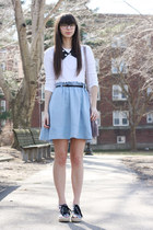 sky blue Anthropologie skirt - light purple Michael Kors purse