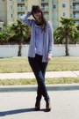 Blue-bcbgeneration-jeans-amethyst-gap-shirt-black-striped-express-cardigan-