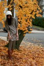 Off-white-urban-outfitters-hat-tan-victorias-secret-sweater-off-white-foreve