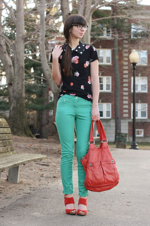 aquamarine H&amp;M pants - carrot orange Marc by Marc Jacobs purse