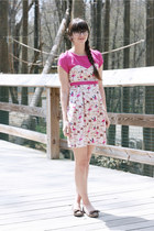 hot pink handmade dress - brown Blowfish Shoes flats