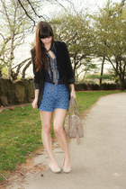 beige Blowfish shoes - black Express blazer - tan theIT bag - blue Anthropologie