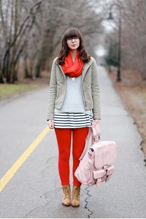 light pink Epiphanie Bags bag - camel Lulus boots - black OASAP dress
