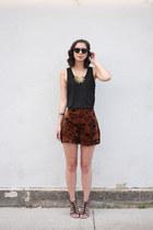 black Blowfish sandals - dark brown Minx shorts