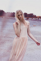 peach thin flowy missselfridge dress