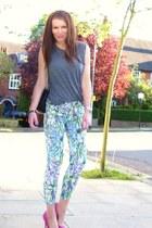 Zara pants - Topshop t-shirt - Aldo heels