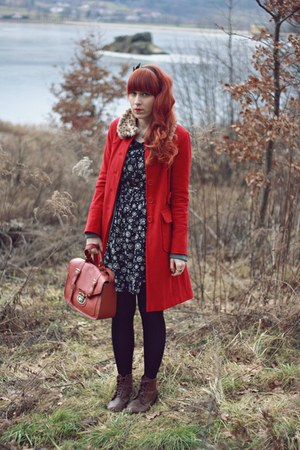 ruby red Primark coat
