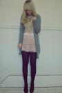 Pink-h-m-skirt-pink-topshop-top-silver-primark-cardigan-black-primark-shoe