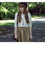 Light-brown-new-look-shoes-camel-and-cream-chicwish-dress-black-claires-hat