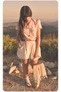 Pink-vintage-from-mums-closet-blouse-beige-zara-skirt-brown-zara-belt-gold