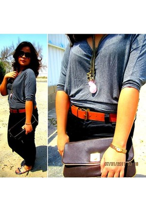 Mango bag - Forever 21 blouse - Forever21 pants