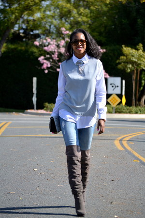 H&M vest - Cherokee blouse
