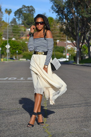 white unknown dress - neutral vintage skirt