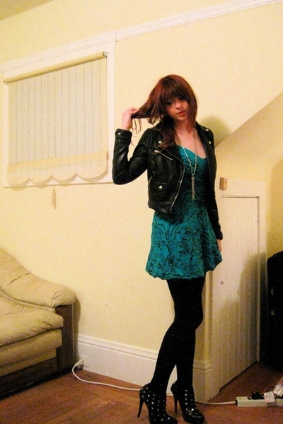H&M jacket - Miss Selfridge dress - Colin Stuart shoes - vintage necklace