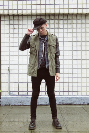New York Hat hat - H&M jeans - H&M jacket - Zaku Design Factory t-shirt