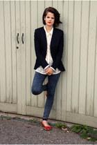 Zara shirt - Topshop jeans - acne blazer