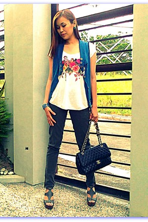 Mango jeans - lonely planet blazer - Chanel bag - from greenhills blouse - Mende