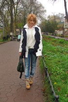 Bershka boots - Zara sweater - new look bag