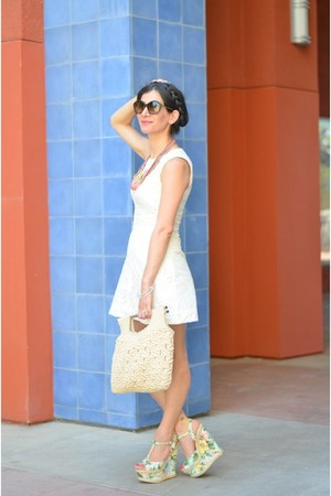 Color by Amber bracelet - H&amp;M dress - vintage bag - Anthropologie necklace