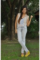 off white acid wash denim Penshoppe jeans