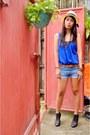 Blue-jeans-denim-shorts-navy-cotton-no-brand-blouse