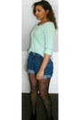 Mint-jumper-wedges