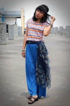 ethnic pattern Nevada t-shirt - long kulot DETAIL pants