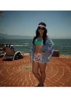 black Nasty Gal sunglasses - aquamarine H&M swimwear
