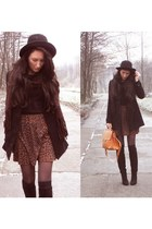 c&a jacket - Top Shop dress - vintage hat - New Yorker wedges