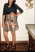 blazer - blouse - skirt - shoes - accessories
